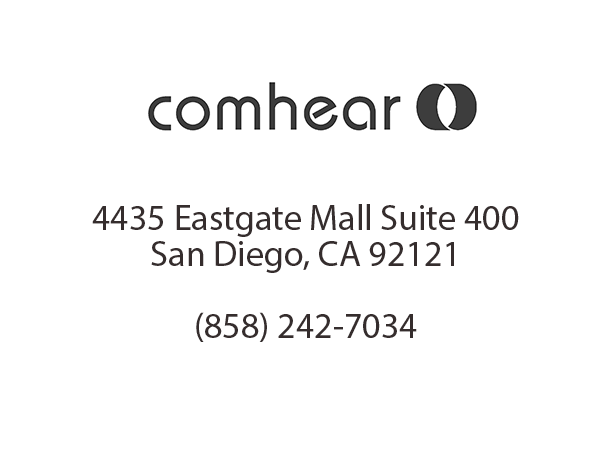 Comhear Logo and Address